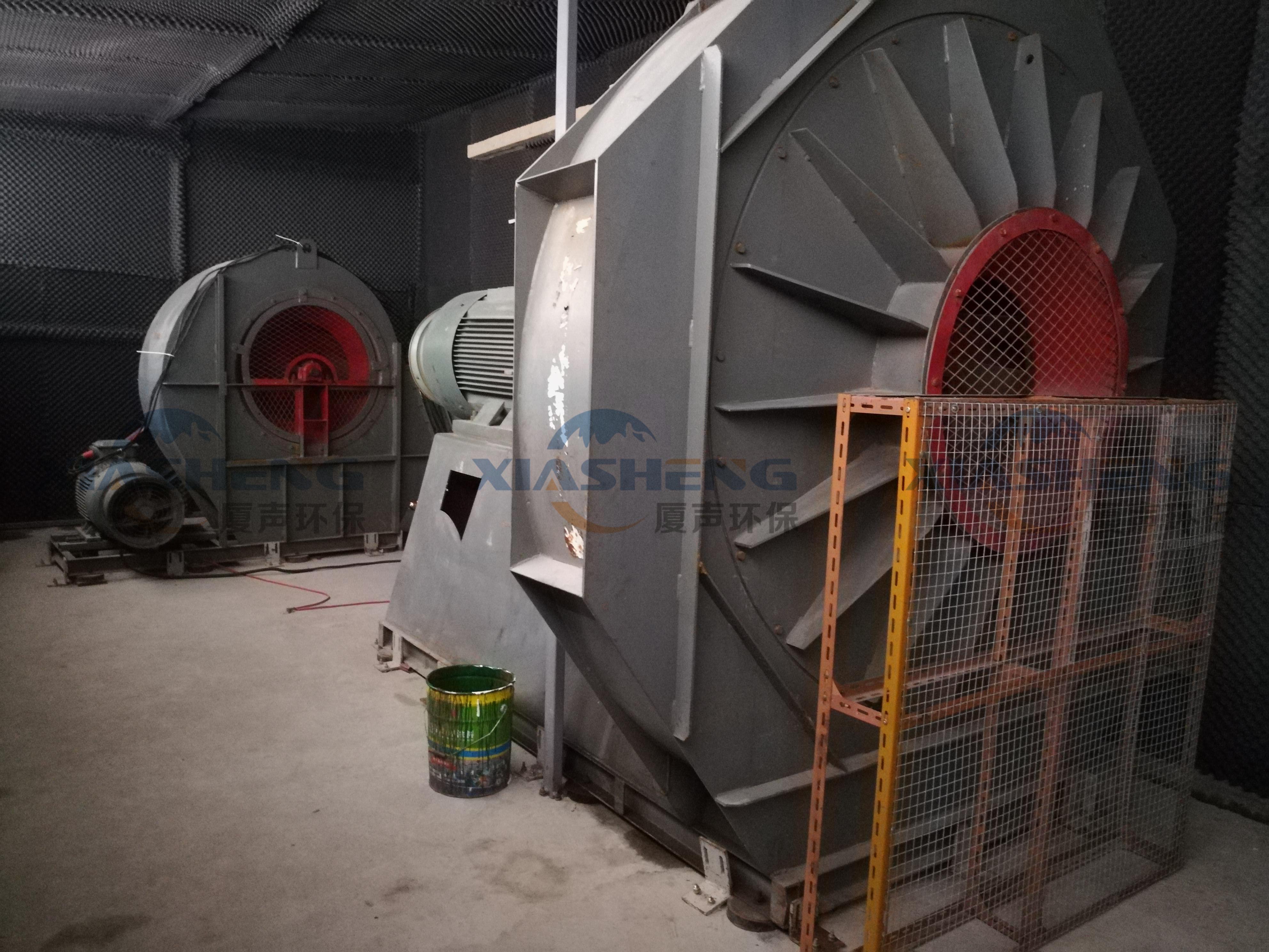 玻璃钢化炉大型风机隔音降噪工程